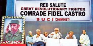 Comrade Fidel Castro Memorial Meeting in Kolkata. Comrade Provash Ghosh, General Secretary, SUCI(C) addressing