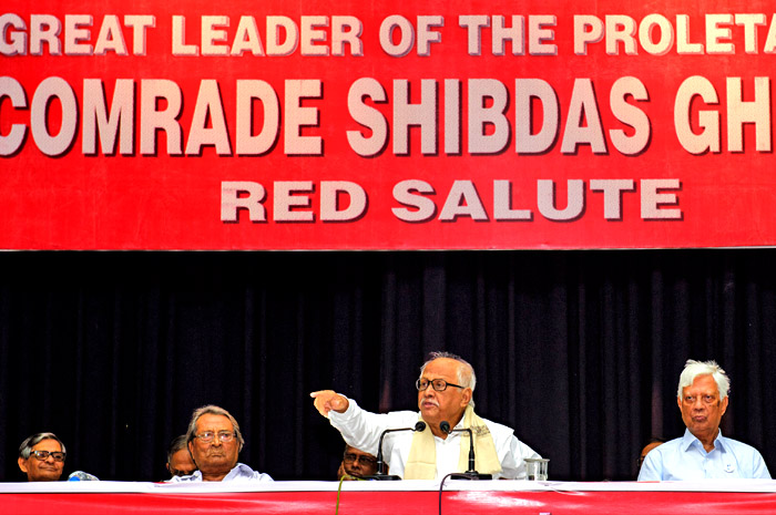 5 August Comrade Shibdas Ghosh Memorial Meeting at Kolkata. Comrade Provash Ghosh, General Secretary addressing