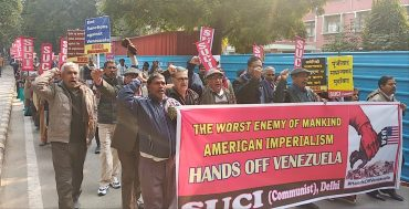 Protest against US-interference in the internal affairs of Venezuela