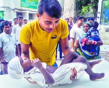 On the death of 150 children due to  Acute Encephalitis Syndrome (AES) in the state of Bihar
