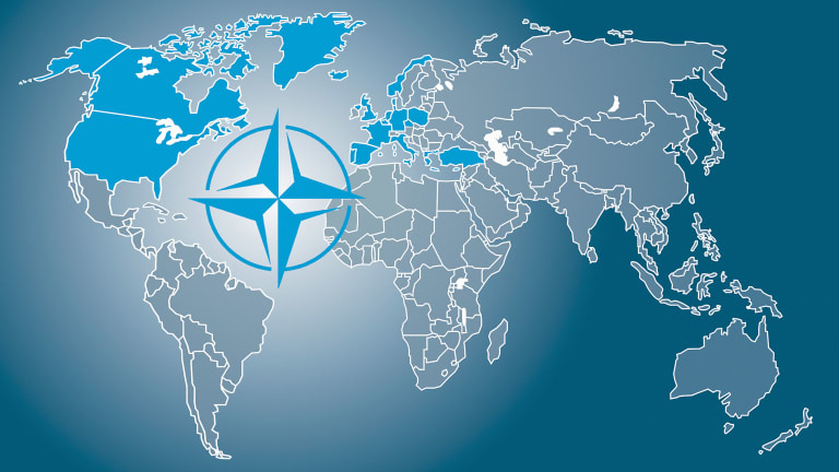 NATO, belligerent militarist combination of the imperialists, observes its seventy years