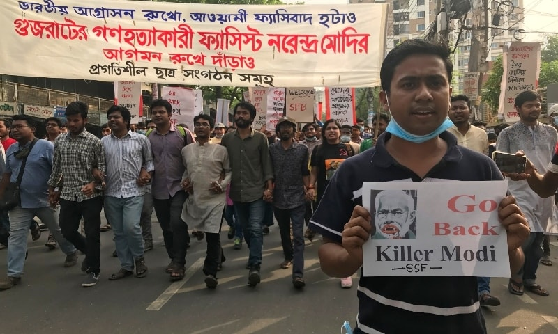 BASAD (Marxist) condemns police firing on anti-Modi protests in Bangladesh