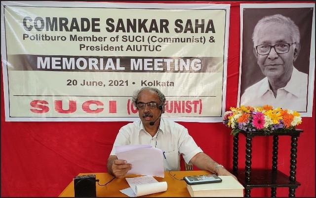 Homage to Comrade Sankar Saha Central Committee of SUCI (Communist)