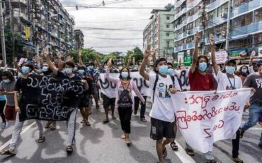 Fighting Myanmar people express solidarity with persecuted and evicted Rohingyas