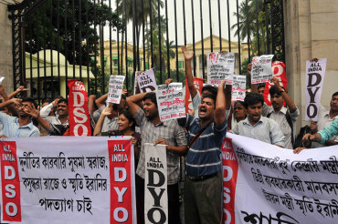 Huge demonstration in Kolkata demanding resignation of the tainted ministers
