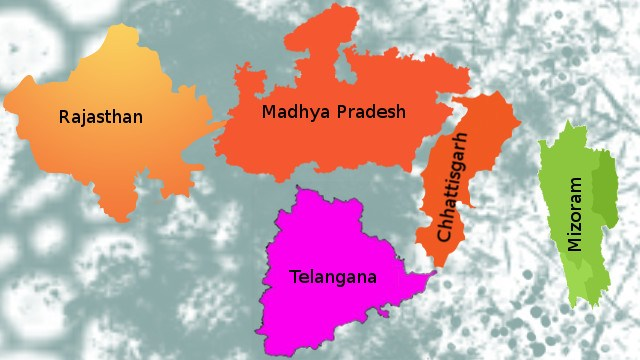 Assembly election in five states and the outcome