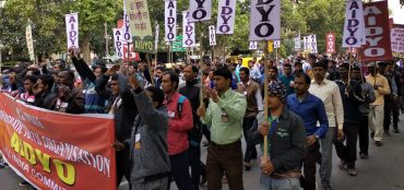 Thousands of Youth march   towards Parliament