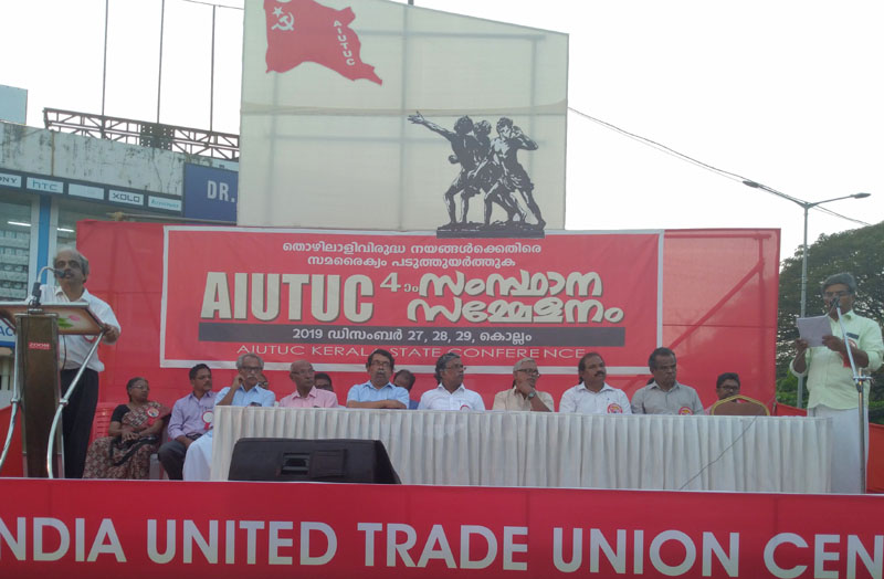 AIUTUC Kerala State Conference at Kollam: Open Session on 27th Dec. 2019
