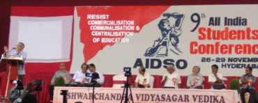 9th All India Conference of AIDSO in Hyderabad with pledge to intensify students' movement against anti-education policies