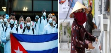 CORONA PANDEMIC —Two countries on a different spectacle